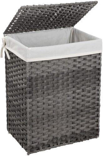 Gray Rattan LCB51WG Laundry Basket