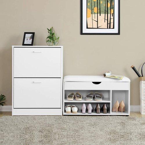 White Shoe Cabinet LBC02WT
