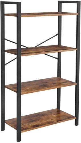Loft style bookcase black brown rustic Alinru LLS60BX VASAGLE