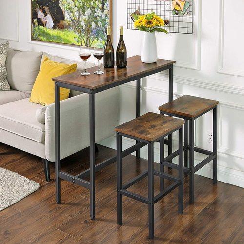 LBT10X brown rustic bar table