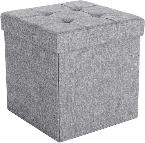 Folding pouffe with storage LSF37H