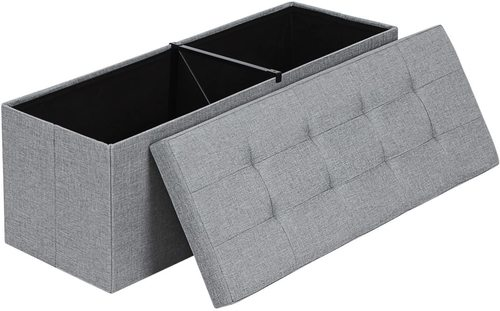 Folding pouffe with storage LSF77G