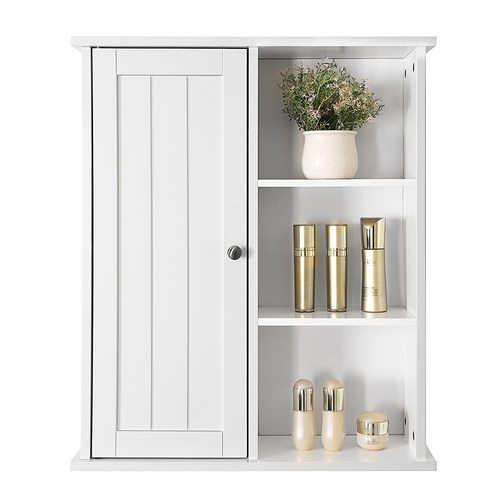 Elegant wall cabinet for the bathroom / room BBC20WT Songmics