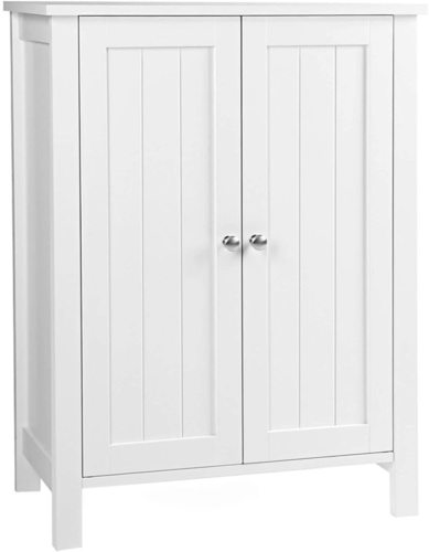 Universal floor-standing white cabinet for the hall BCB60W Songmics