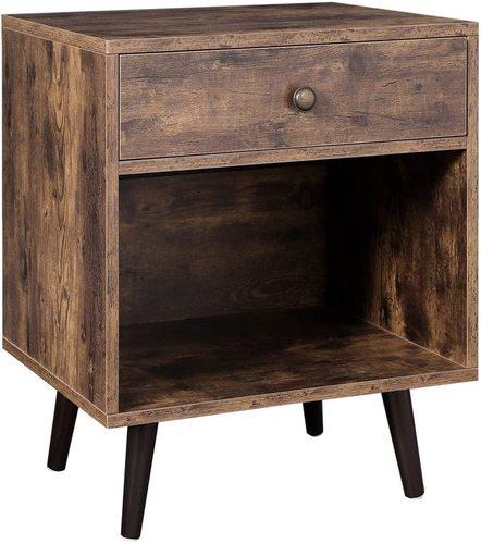 LET71BX VASAGLE retro loft bedside table
