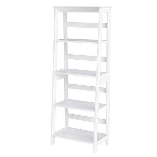Multifunctional white bookcase LLS90WT