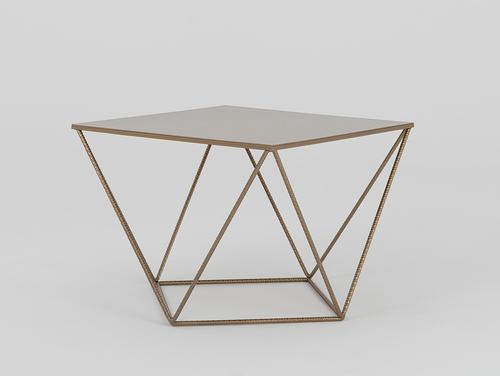 DARYL METAL 60 coffee table - gold