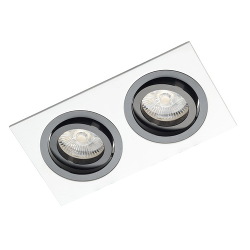 White Double Downlight with Black Alcazar 542.WB