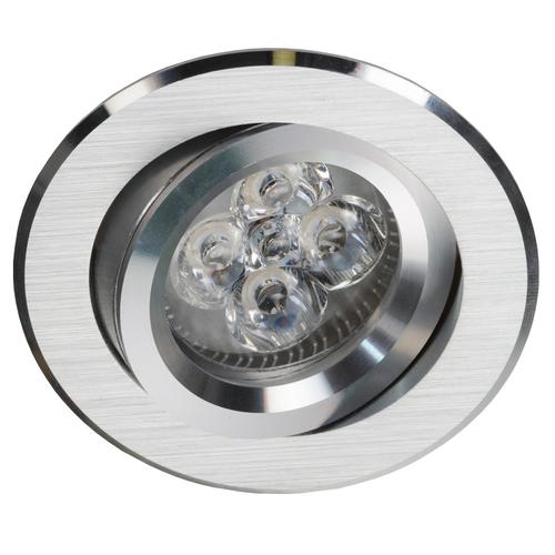 Silver Round Tilt Spot Alcoy 540.SC