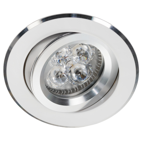 White Reclining Downlight with Alcoy 540.WC Chrome