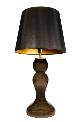 Bedside lamp with lampshade Famlight Flores Gray black / gold E27 60W