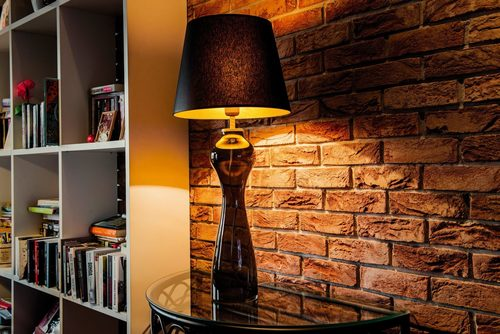 Interesting table lamp Havana S Gray Famlight black / gold E27 60W