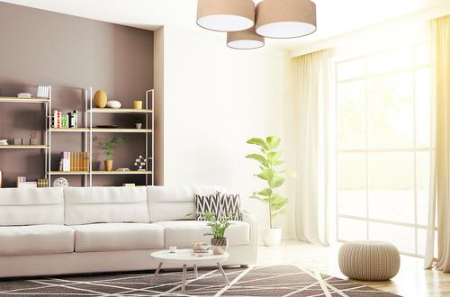 LED ceiling lamp - Ceiling Lamp Elements 60W E27 beige / white