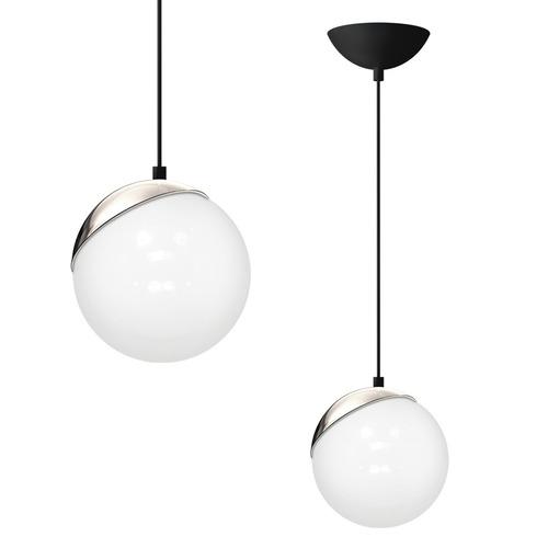 Hanging lamp Sphere Black / Chrome 1x E27 60 W
