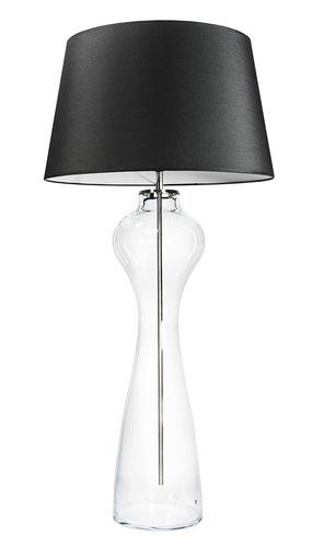 Large table lamp Famlight Havana L Transparent E27 60W graphite / white