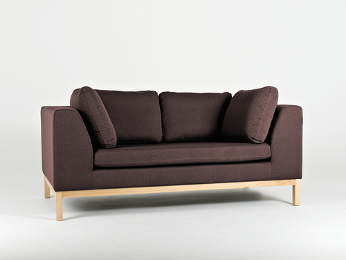 AMBIENT WOOD 2-seater sofa - hematite (ml69), natural