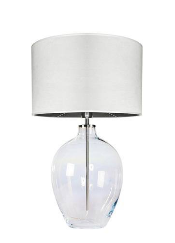 Glass table lamp Luzon Pearl Famlight cream / white E27 60W