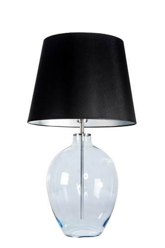 Floor lamp with lampshade Luzon Pearl Famlight black / silver E27 60W