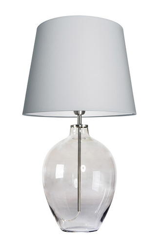 Stylish table lamp Luzon Gray Famlight light gray / white E27 60W stainless steel