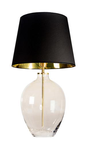 Elegant table lamp Luzon Topaz Famlight black / gold E27 60W brass