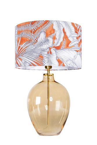 Beautiful table lamp Luzon Amber Famlight orange / white E27 60W brass