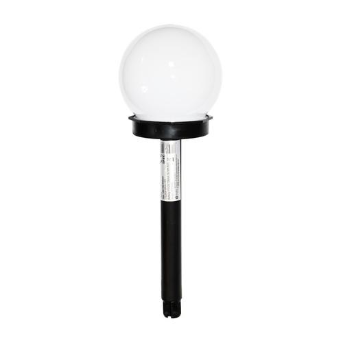 Solar Garden Lamp Black Plastic