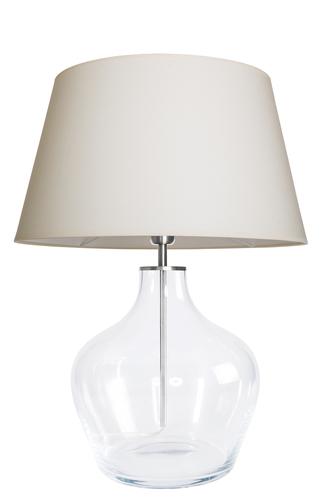Modern table lamp Famlight Madeira Transparent cream / white E27 60W
