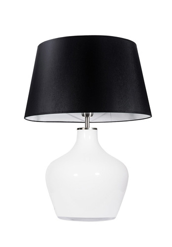 Large dresser lamp Famlight Madeira Opal black / white E27 60W