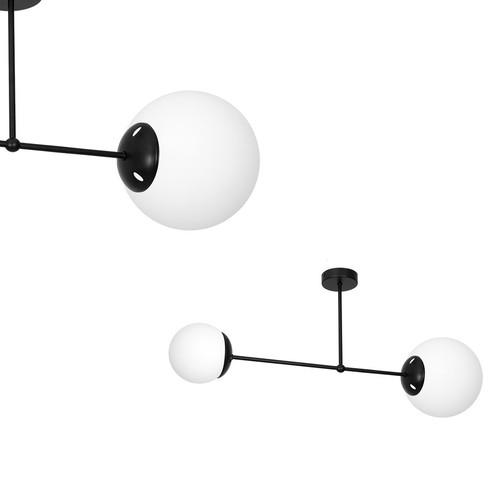 Ceiling Lamp Lima Black 2x E14