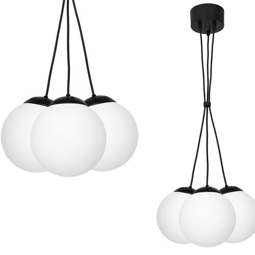 Hanging lamp Lima Black 3x E14