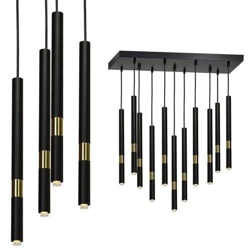 Hanging lamp Monza Black / Gold 11x G9 8 W