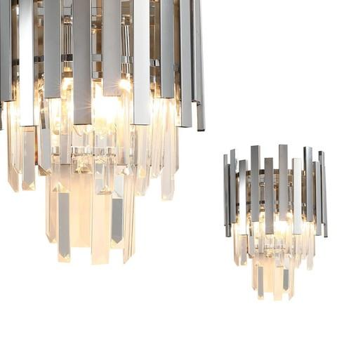 Crystal Wall Lamp Aspen Chrome 2x E14