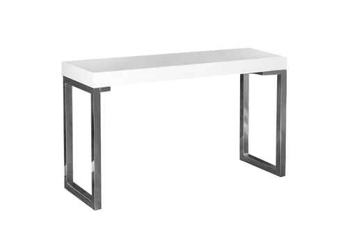 INVICTA desk VERK 120x40 white - steel