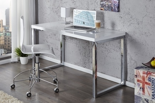 INVICTA desk VERK 120x60 white - steel