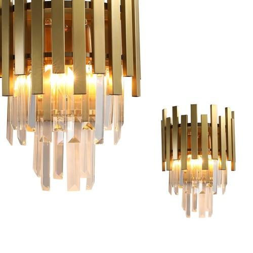 Crystal Wall Lamp Aspen Gold 2x E14