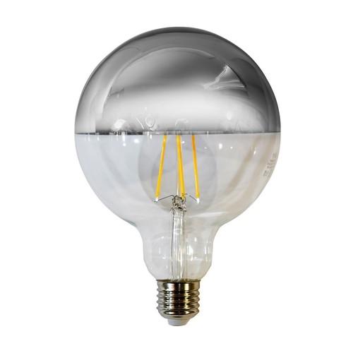 7.5 W LED Filament Bulb G125 E27 Silver