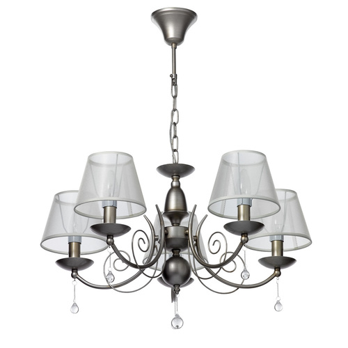 Hanging lamp Gloria Elegance 5 Silver - 328010705