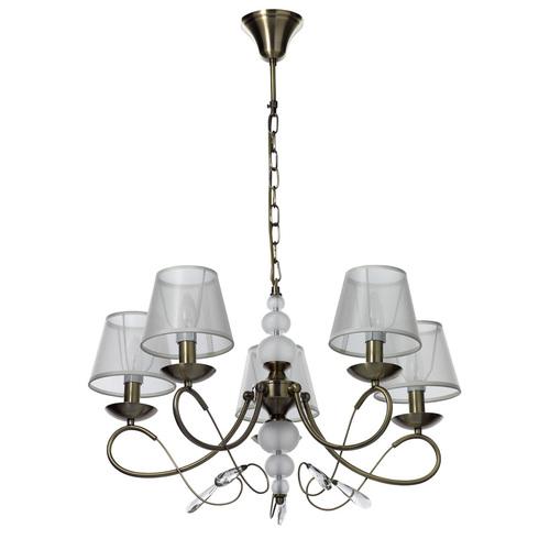 Hanging lamp Federica Elegance 5 Brass - 684012305