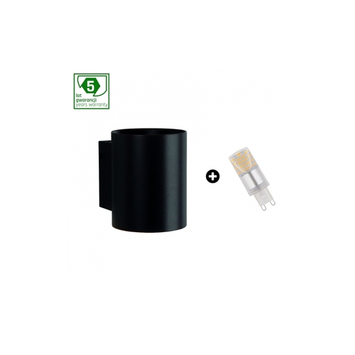 5-year warranty package: Squalla G9 Tuba Black + Led G9 4w Cw (Slip006012 + Woj + 14435)