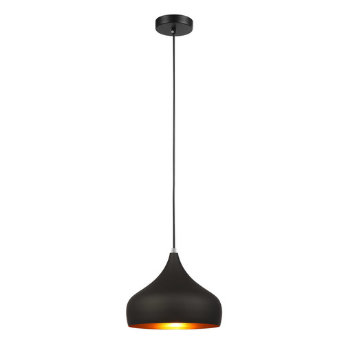 Black Salvio E27 Hanging Lamp