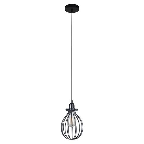 Black Hanging Lamp Lesto E27