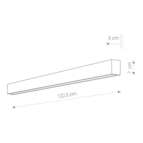 Lighting fixture STRAIGHT WALL LED GRAPHITE L