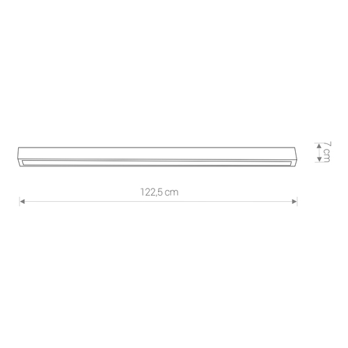 Lighting fixture STRAIGHT LED GRAPHITE CEILING 120