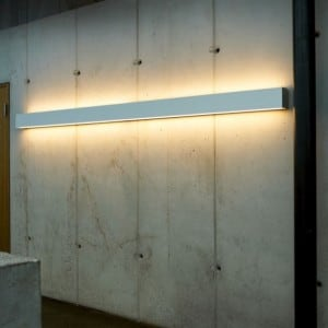 PLANLICHT Pure 2 double-wall sconce 2x 28W 120cm small 2