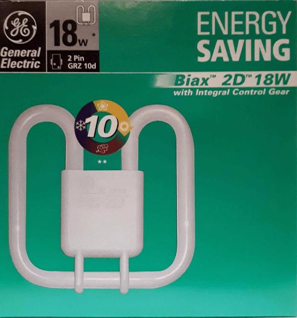 GE Biax 2D Integral 18W / 830 GRZ10d warm white