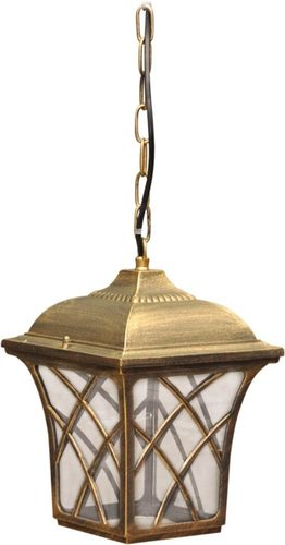 Hanging outdoor lamp K-5180H black / gold from the KERRY series