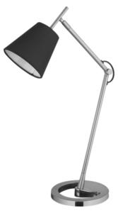 Lampa biurkowa Lily 230V/25W E14 czarny/srebrny