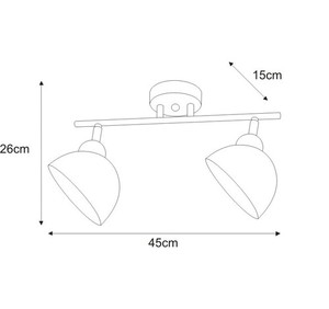 Ceiling lamp K-JSL-1306 / 2W from the HORNET series small 1