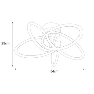 K-8076 ceiling lamp from the LELO series small 1