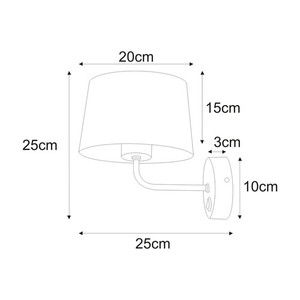 Wall lamp K-4351 from the REMI BLACK series small 1
